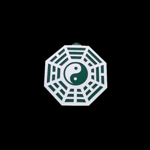 MA4100-06 - Baguá Acrílico Espelhado Céu Anterior Verde (G)