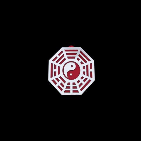 MA4103-05 - Baguá Acrílico Espelhado Céu Anterior Vermelho (M)