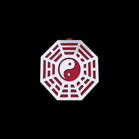 MA4100-05 - Baguá Acrílico Espelhado Céu Anterior Vermelho (G)