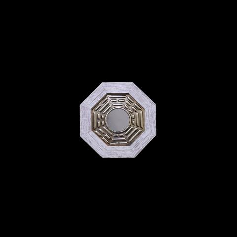 ME3032-36 - Quadro Octogonal Baguá - Céu Posterior Branco (P)