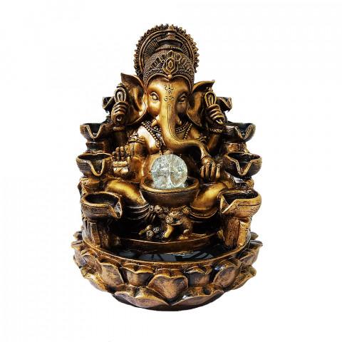 BP17390 - Fonte Ganesh Cascata Dourado C/ Bolinha (GG)