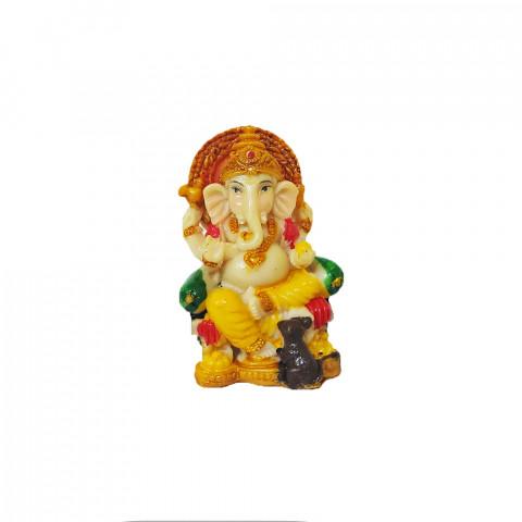 BP8389A - Escultura Pequena Ganesh Escrevendo Colorido (6cm)