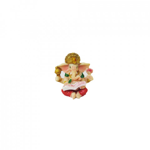 BP8390D - Mini Escultura Ganesh Escrevendo Vermelho (4cm)
