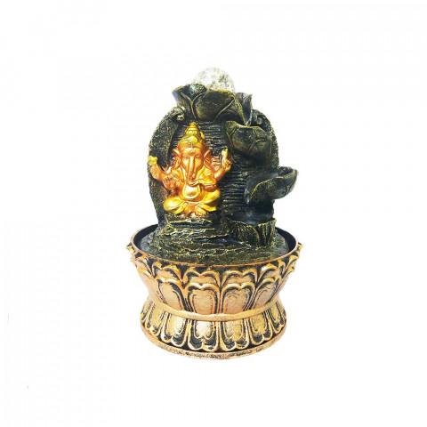 BP21139  - Fonte Ganesh Abhaya Dourado C/ Bolinha