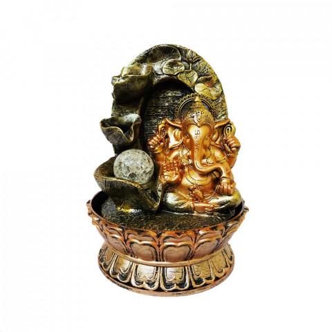 BP17404 - Fonte Ganesh Mudra Abhaya Dourado C/ Bolinha