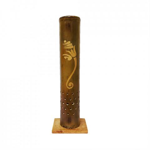 BB1752 - Incensário Torre Bambu Simples - Ganesh