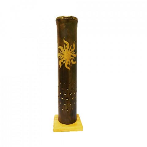 BB1751 - Incensário Torre Bambu Simples - Sol