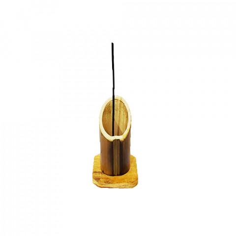 BB1758 - Incensário Copinho Vertical de Bambu