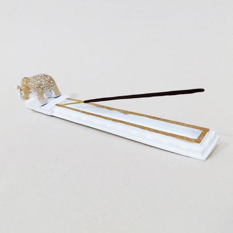 RM47-206D - Incensário Resina Mística Canaleta Elefante Branco
