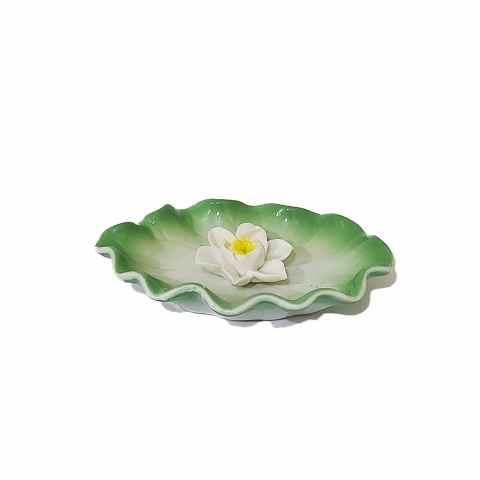 CPA030004618 - Incensário Flor de Lótus Branco