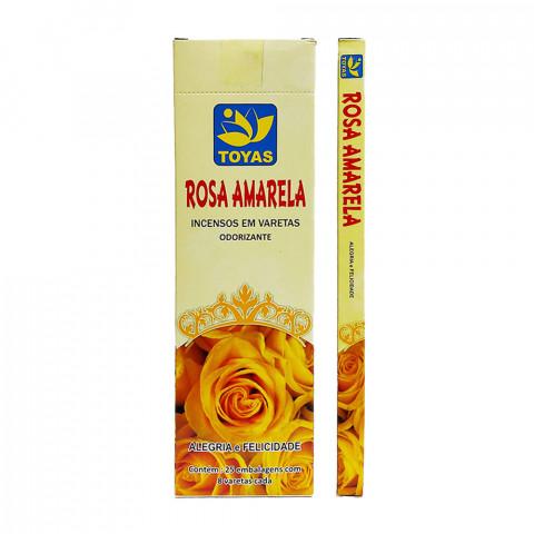 1265 - Incenso Indiano Toyas Rosa Amarela