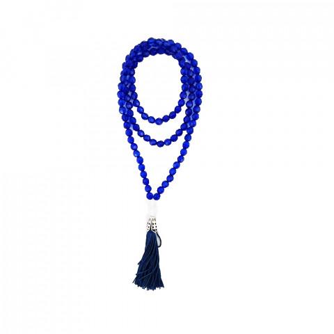 TS010 - Japamala Acrílico Azul Escuro 108 Contas
