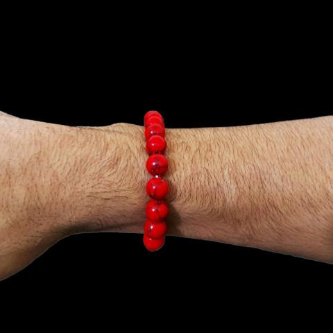 CPA410049312 - Pulseira Turquesa Vermelha T10