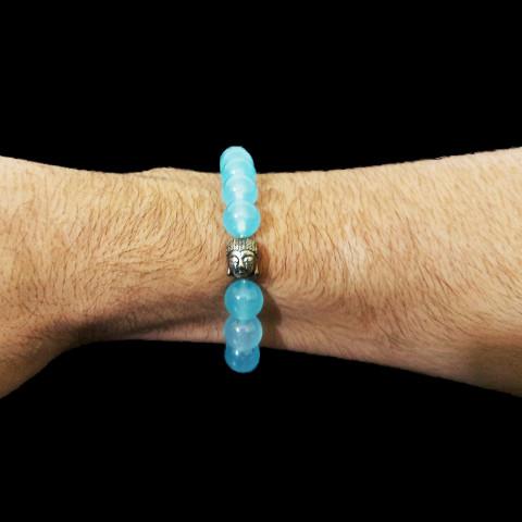 CPNA20544603 - Pulseira T10 Buda Jade/Azul