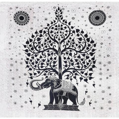 JMD806-110 - Manta Indiana Elefante na Árvore da Vida