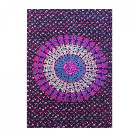 JMD806-0022 -Manta Indiana Solteiro Mandala Roxa