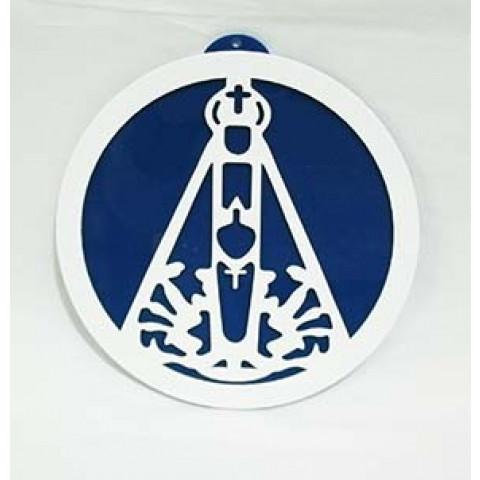 MA4102-14 - Mandala Nossa Senhora Aparecida Acrilico Azul