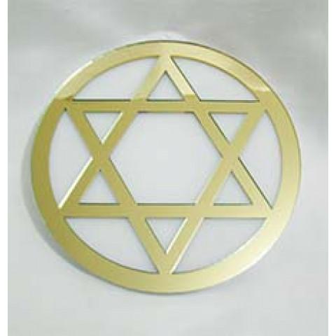 MA4102-23 - Mandala Hexagrama Acrilico Dourado