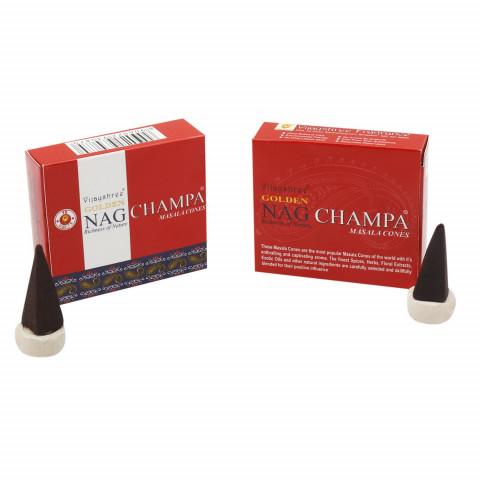0199 - Incenso Golden Nag Cone Champa