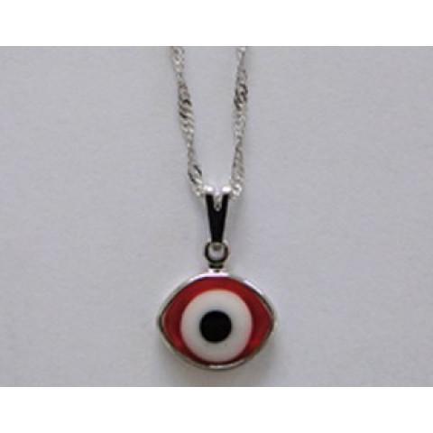 SH5031 - Gargantilha Olho Grego Vermelho