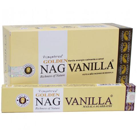 0799 - Incenso Massala Golden Nag Vanilla