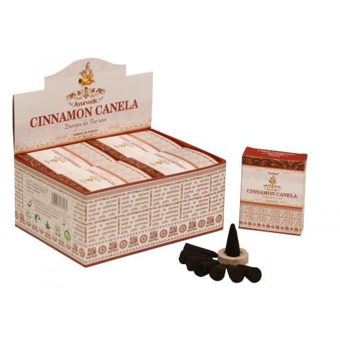 0318 - Incenso Goloka Cone Cinnamon Canela