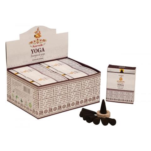 0366 - Incenso Goloka Cone Yoga