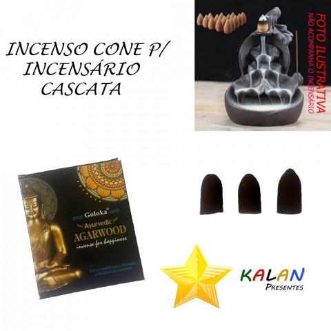 0771 - Incenso Goloka Cone Cascata Agarwood (Buda)