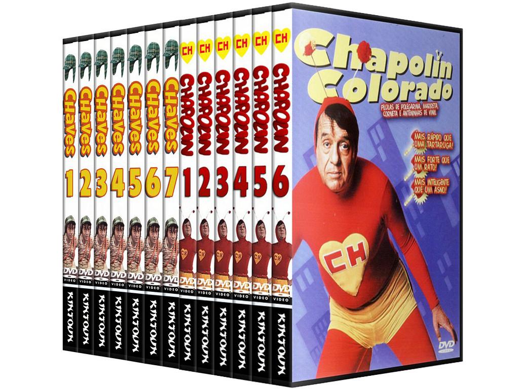 Dvds chaves e Chapolin coleção completa com todas as 7 temporadas - Versão Multushow