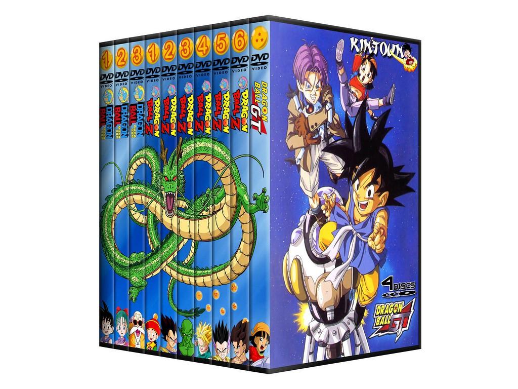 Dvds Dragon Ball, DBZ e DBGT coleção completa - Sagas clássicas + filmes