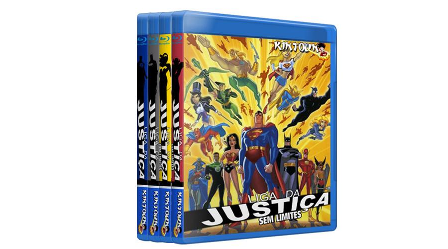 Bluray Liga da Justiça e Liga da Justiça Sem Limites Completos Full HD