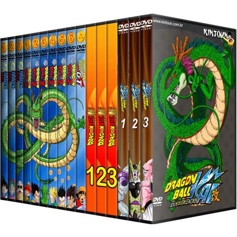 Dvds Dragon Ball, DBZ, DBGT, DB Super e DBKAI coleção completa + filmes