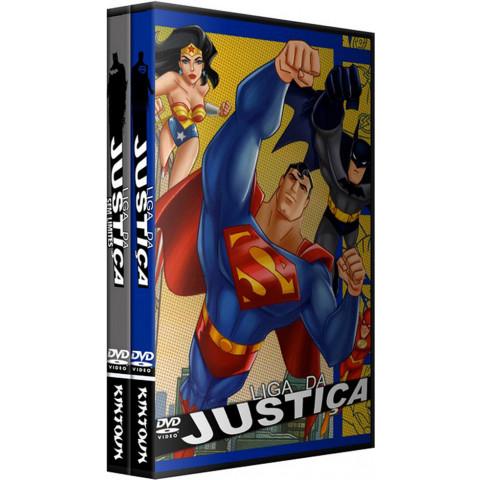 dvds Liga da Justiça e Liga da Justiça sem Limites completos