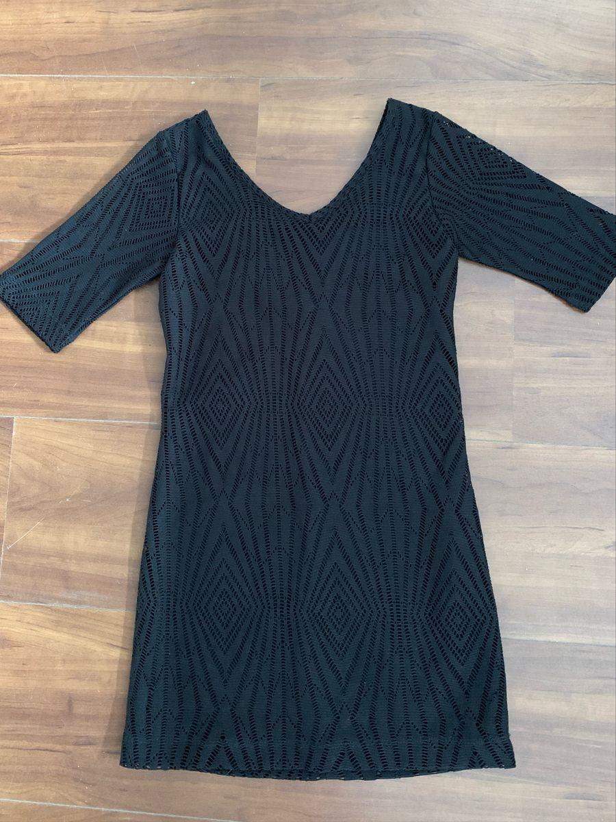 Vestido Bisi tubinho preto T: 10-12 anos