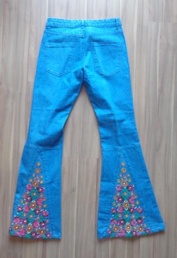 Calça Jeans Mixed flare, 36