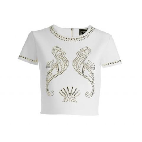Top Cropped Versace para Riachuelo T:P