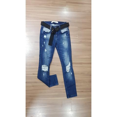 Calça Jeans Cinto Lança Perfume tam:34