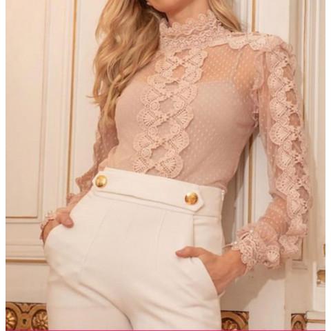 Blusa renda rosa  Ct Brand  T: G ( Produto Novo)