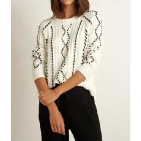 Blusa Tricot Antonia  Le Lis Blanc tam:G