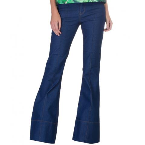 Calça Jeans AMAPÔ flair anos 70, 38