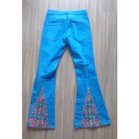 Calça Jeans Mixed flare, 36