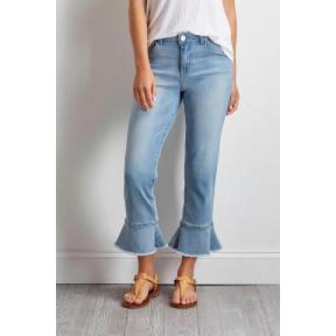 Calça Jeans Zara Babados  Barra tam:40