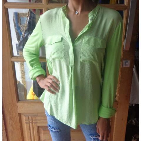 Camisa Animale verde limão T: 38