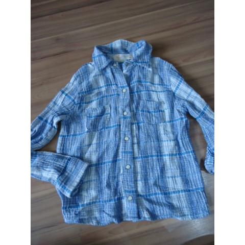 Camisa Fábula xadrez azul T: 8 anos