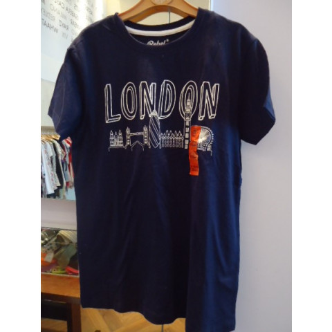 Camisa Rebel London T: 11-12 anos Nova com etiqueta.