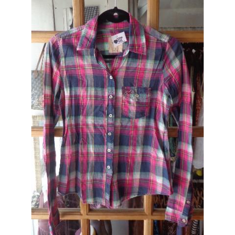 Camisa Xadrez Hollister, P