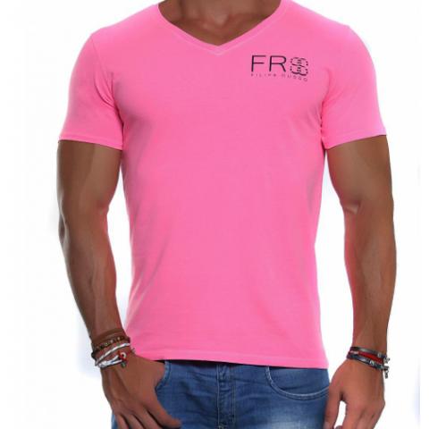 Camiseta Filipe Russo rosa, G Nova com etiqueta