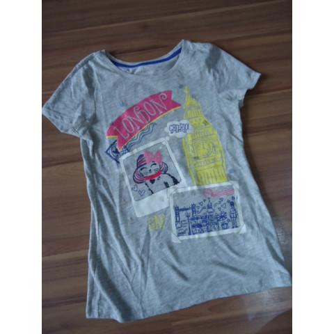 Camiseta GAPKids cinza LONDON, 8-9 anos