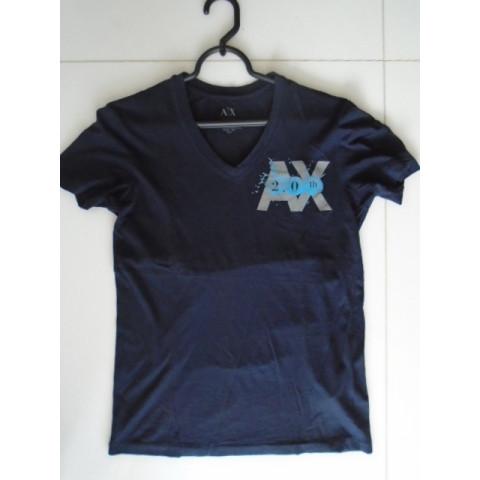 Camiseta preta Armani Exchange, XS Importada Fashion