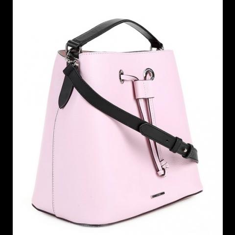 Bolsa Carmim transversal saco rosa ( Produto novo)